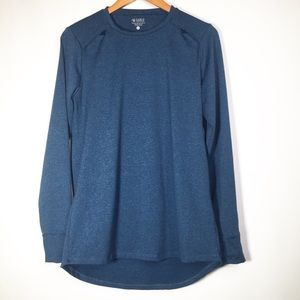 Carve Designs Large Blue Open Back Long Sleeve
